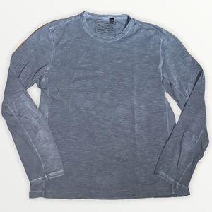 Hugo Boss Men's Grey Long Sleeved Shirt Size Large